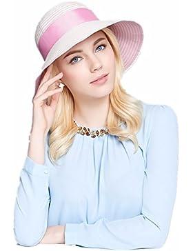 Señoras sombrero para el sol de verano en las playas de moda ocio compras compras plegado sunscreen parasol dome...