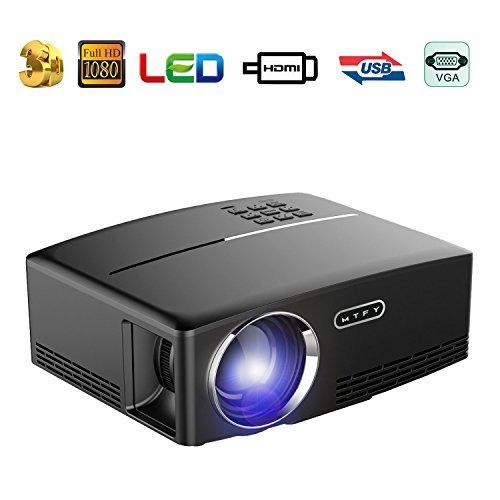 GP100 Videoprojektor, 3500 Lumen LCD 1080P Full-HD LED Bewegliche Multimedia-Heimkino-Projektoren für Film, Fernsehapparate, Laptope, Spiele, DVD, PC, Laptop Unterstützung HDMI, USB, VGA, (GP-80)
