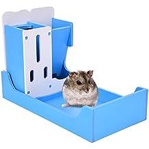 3en 1Accesorio de jaula de hámster Parque infantil pequeño Animal multifuncional accesorio de mascotas potable y alimentos y estante de baño para chinchillas y Guinea cerdos por awhao