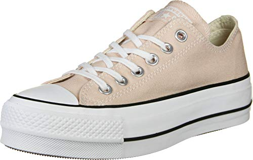 Converse Damen Chuck Taylor All Stars Sneaker, (Particle Beige/White/Black 000), 38 EU