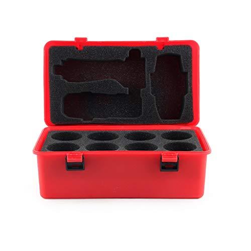 Luccase Rot Gyro Container Wasserdichter Aufbewahrungskoffer Tragbarer Stoßfest Aufbewahrung 12 Stücke Battle-Spinner-Spielzeug Box 8-in-1-Kartenspiele für Kinder -