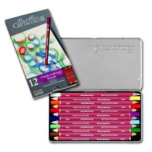 CRETACOLOR Karmina, Wasserfeste Künstlerstifte, 12 Farben