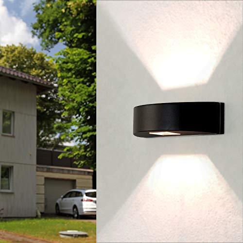 Aplique de diseño económico para alumbrado exterior G9 máx. 25 vatios redondo aluminio negro - acero inoxidable