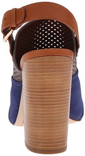 Pompe Cole Haan Tabby Robe haute Sandal Storm Cloud Perforated/Twilight Blue Suede/Deep La