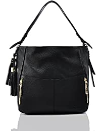 Geya Women'S Fashion Genuine Leather Handbag Shoulder Handbag With Imported Soft Hot Leather (Black)