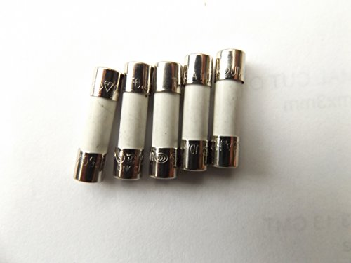 Fusibile 6.3A 20mm HBC antisurge/Time Delay T6.3A H 250V in ceramica x5pcs