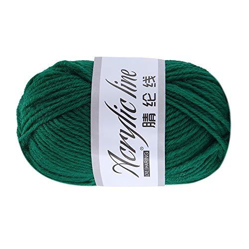 FeiliandaJJ 50g Wolle Zum Stricken & Häkeln,Acrylwolle Baumwolle Blau/Grün/Lila Hand Strickgarn Strickwolle für Warme Hüte Pullover Schal Decke Strickprojekt - 14 Farben (F)