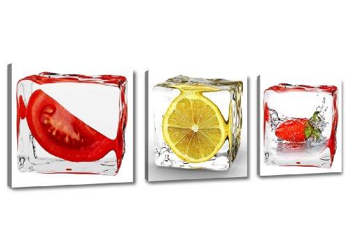 Cuadros en Lienzo 150 x 50 cm Nr. 4204 frutas...