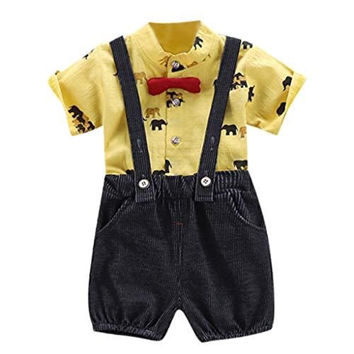 Julhold Scherzt Baby Mädchen Mode T-Shirt Topseiten Hosenträger Beiläufige Kurzschluss Overall Kleidung stellte 0-4 Jahre