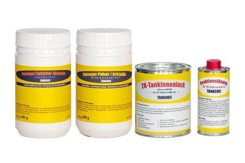 Tankdoc Tanksanierung Box 4-teilig für 20 Liter Tank Farbe lichtgrau (Box 20 lichtgrau)