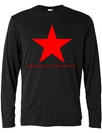 Herren Langarmshirt - Rage Against the Machine - red star - Long Sleeve 100% Baumwolle LaMAGLIERIA