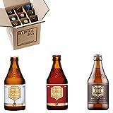 Selección de las mejores cervezas trapenses Chimay. Caja con 9 cervezas Chimay. Chimay Roja, Chimay Blanca y chimay Doree.