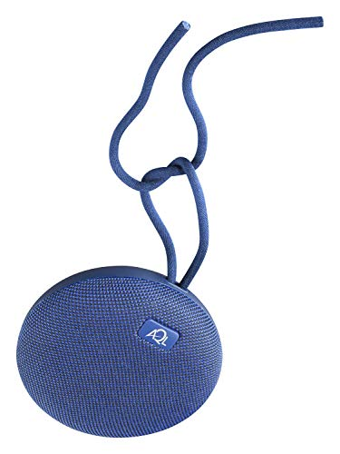 AQL - компактный портативный Bluetooth-динамик, очень устойчивый к воде с Ipx 7, с микрофоном для телефонных звонков и зажимом и шнуром, цвет: синий