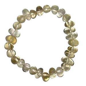 Citrin echt – natur Armband schönes Trommelstein Edelstein Armband ein echter Hingucker elastisch aufgezogen.(4013)