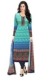 96a944106e Justkartit Attractive Indian Ethnic Wear Suits Dress Materials / Free Size  Unstitched Shalwar Kameez / Ladies