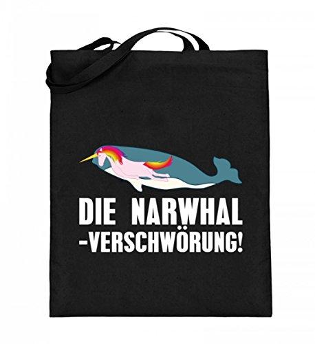 iger Jutebeutel (mit langen Henkeln) - Die Narwhal Einhorn Verschwörung ()