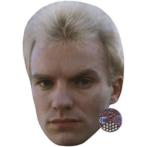 Celebrity Cutouts Sting (Young) Maske aus Karton