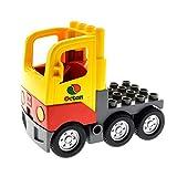 Bausteine gebraucht 1 x Lego Duplo LKW gelb rot grau Tank Octan Wagen Laster Auto Lastwagen Zugmaschine Set 5605 4228456 1326c01 4517885 48125c04pb01