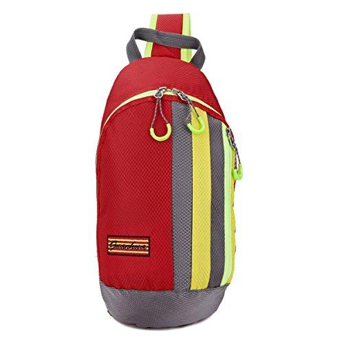 BULAGE Beutel Mode Natur Brusttasche Messenger Freizeit Sport Leicht Einfach Männer Und Frauen Reisen Nylon Wasserdicht Red