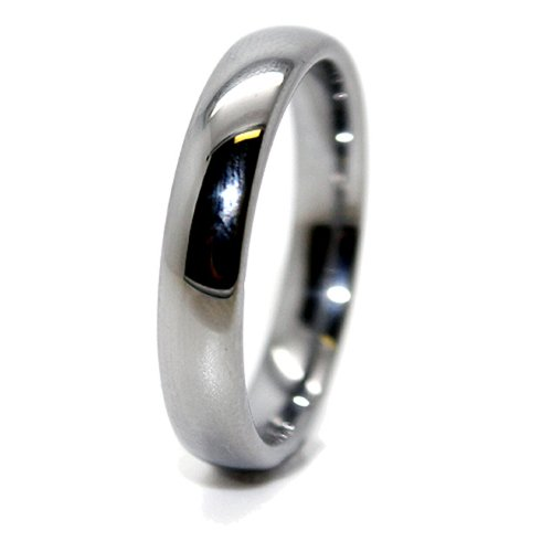 4mm Classic Domed Tungsten Ring Wedding Band Size K _