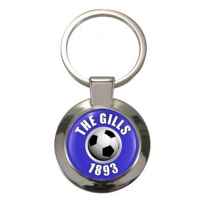 The Gills since 1893 Chunky Circular Silver Keyring