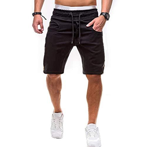 ordelzug Freizeit Lose Jogginghose Persönlichkeit Multi-Pocket Sport Shorts Pants,Schwarz,Tag:XL(EU:M) ()