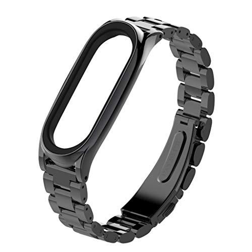 SANFASHION Fitness Armband,Luxus Edelstahl Armband Ersatz Armbanduhrband für Xiaomi Mi Band by