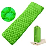 VOOPH Inflatable Camping Sleeping Pad Mat, Ultra Lightweight Roll Mat Inflatable Camping Mattress