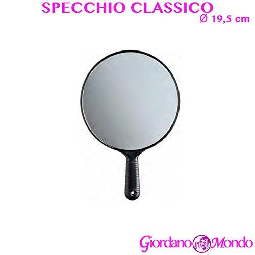 Specchio portatile per parrucchiere con manico professionale retrovisore Ø 19,5 cm