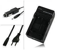 Chargeur de batterie [ secteur + voiture ]:  · Ce kit est composé d'un chargeur secteur et un chargeur alume-cigares qui vous permettra de  charger votre appareil photo numérique à la maison et aussi en voiture.  · Ce kit charger seulement la batteri...