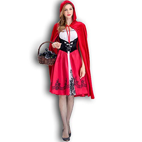 AWSAYS Rotkäppchen Kostüm Castle Queen Costume Halloween Cosplay Uniform Erwachsene Cosplay ()