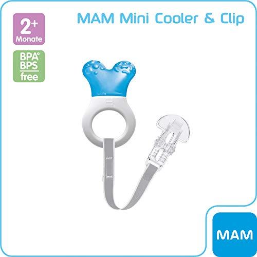 MAM 66814211 - Mini Cooler & Clip, Beißring für Jungen