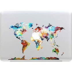 Sticker Macbook, Stillshine New Fashion Coloré Vinyl Decal Autocollant pour Apple MacBook Pro / Air 13 Pouces pour Ordinateur (Carte du monde)