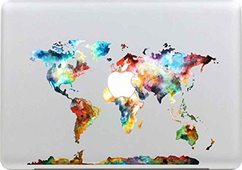 Macbook Aufkleber, Stillshine Super dünn (0,07 mm) Removable Bunte Muster Fashion Macbook Sticker Aufkleber Skin Laptop Vinyl Decal Sticker Abziehbild Abziehbilder (Pattern 25) (Logo-mini-fledermaus)