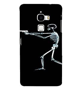 PrintVisa Shooting Skeleton Design 3D Hard Polycarbonate Designer Back Case Cover for LeEco Le Max