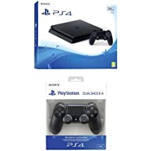 PlayStation 4 500 Gb D Chassis Slim + Controller aggiuntivo Dualshock 4 Wireless Jet Black New