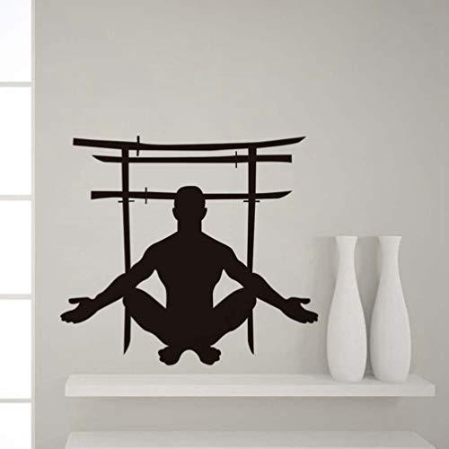 Wandtattoo Schlafzimmer Japanische schwerter tor ein mann hockt kunst wohnkultur diy spezielle aufkleber für wohnzimmer schlafzimmer