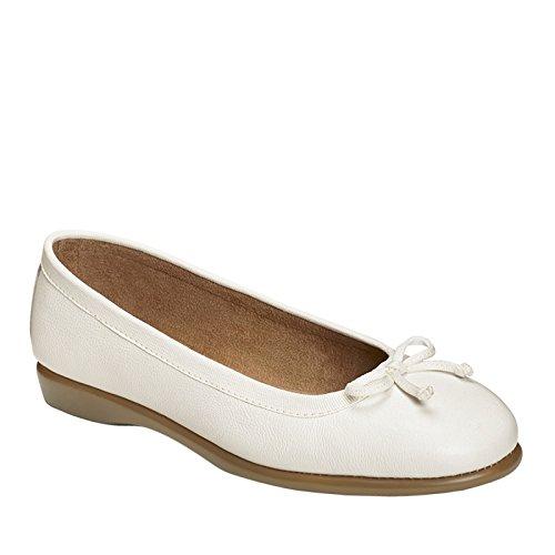 Aerosoles Fashionista Cuir Chaussure Plate white