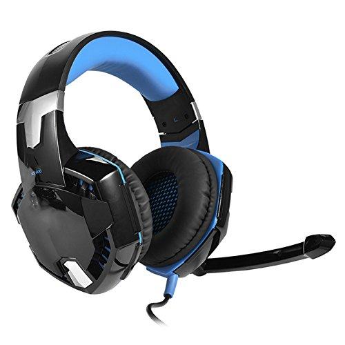Fosa gaming headset per ps4, pc, controller xbox one, cuffie da gioco con auricolari stereo per pc ps3 con microfono, cuffie per auricolari bassi con controllo volume per mac, smartphone ipad