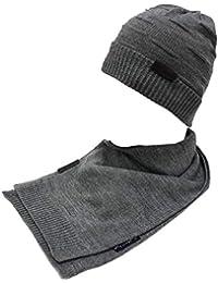 GIANMARCO VENTURI Set sciarpa e cappello uomo 100% acrilico in box 71774  grigio 980e00693724