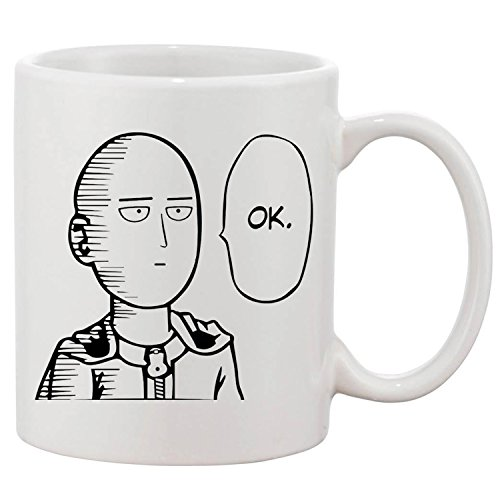 zmvise One Punch Man OK Fashion Zitate weiß Keramik Tasse Perfect Christmas Halloween Gfit