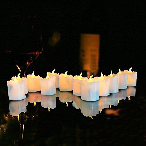 Giftgarden LED Kerzen mit Flammen und ohne Fernbedienung 12 Stück 2.2 Inch Weihnachtsdeko - 6