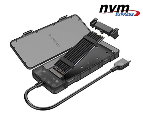 NVMe M 2 SSD USB 3 1 Gen2 Disk Enclosure - NV-2575C External M2 Adapter,  10Gbps PCIe M-Key HDD Card Reader, NVMe Hard Drive Extension Converter  Caddy