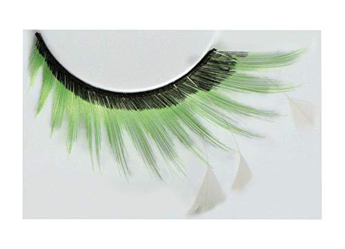 Eulenspiegel 001387 - künstliche Wimpern - Schwarz/Grün