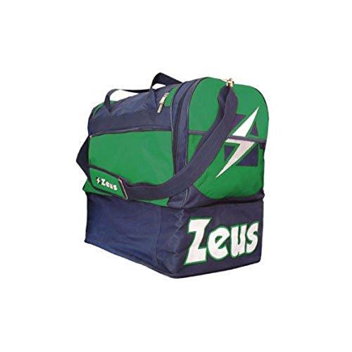 Zeus Herren Sporttasche Schultergurt Umhängetasche BORSA DELTA (BLAU-ROT) BLAU-GRÜN