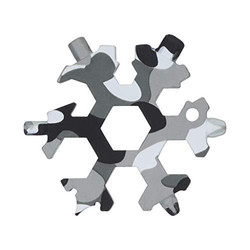 Lucaswang 15-in-1 Incroyable Outil multifonction en acier inoxydable, en acier inoxydable non Corrosives Outil multifonction, décapsuleur, tournevis, cadeau pour homme (Camouflage)