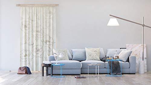AG Design Flora grau, Vorhänge für Wohnzimmer, Küche, Schlafzimmer, 140 x 245 cm