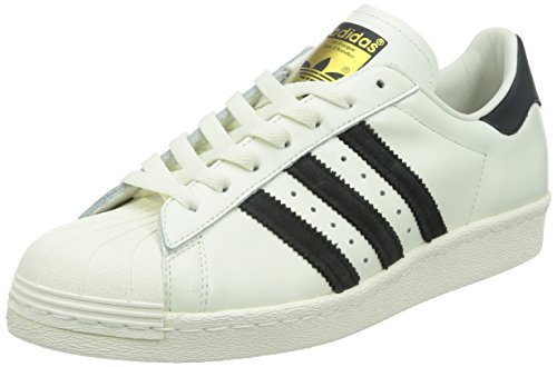 adidas Originals Superstar 80s Deluxe, Herren Sneakers, Weiß (Vintage White S15-ST/Core Black/Off White), 44 EU (Full-grain Vintage)