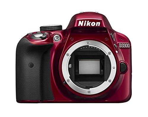 Nikon D3300 - Digitale Spiegelreflexkamera, rot (DX-Format)