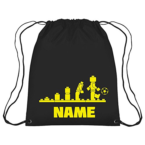 Lego Evolution Football Personalised Gym Bag School  Football  Nursery  Swim  PE  Dance  Kit  Black
